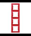 Rama verticala, 4 posturi SEDNA SCHNEIDER, rosu