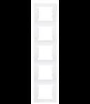 Rama verticala, 5 posturi SEDNA SCHNEIDER, crem