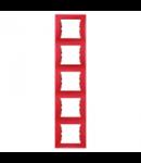 Rama verticala, 5 posturi SEDNA SCHNEIDER, rosu