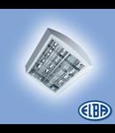 Corpuri de iluminat Fluorescente pentru Montaj Aparent - 4X18W , FIRA-03 MATIS Drept 7 lamele,   ELBA