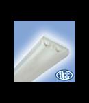 Corpuri de iluminat Fluorescente pentru Montaj Aparent - 2X36W opal,  FIDA  05 SELENA,  ELBA