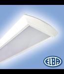 Corpuri de iluminat Fluorescente pentru Montaj Aparent - 2X36W opal , FIDA 12 COMPACT  ELBA