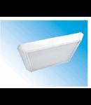 Corpuri de iluminat Fluorescente pentru Montaj Aparent - 4X18W opal , FIDA 12 COMPACT,  ELBA