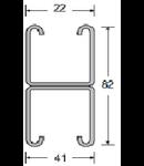 Canale dimensiunea 82x41x.2.5mm, pentru Sisteme FOTOVOLTAICE