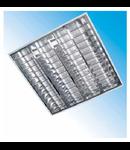 Corpuri de iluminat Fluorescente pentru Montaj Incastrat - 4X18W SP 9 lamele HF-S , FIRI 03 ICAR,  ELBA