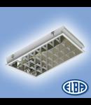 Corpuri de iluminat Fluorescente pentru Montaj Incastrat -  4X18W  , FIRI 05 DR 7 LAMELE ( incastrare in gips carton),  ELBA