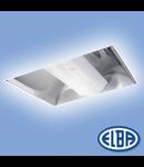 Corpuri de iluminat Fluorescente pentru Montaj Incastrat -  02 - 2X36W  reflector oglindat,  ODEON FIRI- 02, ELBA