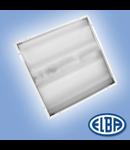 Corpuri de iluminat Fluorescente pentru Montaj Incastrat - 4X18W TRANSPARENT HF-S , FIDI-04 CRISTAL IP55,  ELBA