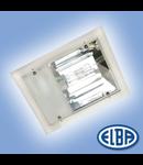 Corpuri de iluminat industriale, 250W halogenura metalica, cu gratar, PREMIUM LUX IP66- montaj Aparent, ELBA