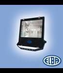 Proiectoare, 100W sodiu, refl.simetric, LUXOR-02 IP66, IK06, ELBA