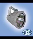 Proiectoare, RONDO 01 80W lampa albastra, 1 niplu, IP66, ELBA
