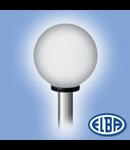 Corp de iluminat pietonal,   Ø300 FUMURIU PMMA, GLOBOLUX IP44, ELBA