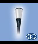 Corp  de iluminat pietonal, 100W sodiu negru opal refl. AL., AVIS 02M ( fara brate) IP66, ELBA