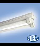 Corp de iluminat protejat la umezeala si praf, 2X18W HF-S ,  FIPA 04,  ELBA
