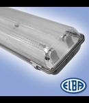 Corp de iluminat protejat la umezeala si praf, 2X8W ,  FIPAD 05 LED, dispersor PC ( tubul cu leduri nu este inclus),   ELBA