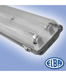 Corp de iluminat protejat la umezeala si praf, 2X18W  ,  FIPAD 05 LED, dispersor PC ( tubul cu leduri nu este inclus),   ELBA