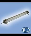 Corp de iluminat protejat la umezeala si praf, 1X14W,   FIPAT 02 HIDRO,  ELBA