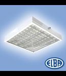 Corp de iluminat protejat la umezeala si praf, 4X18W,  FIRAD 04,  ELBA
