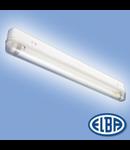Corp de iluminat protejat la umezeala si praf, 1X18W cu intrerupator ,  APLICA BAIE AB-02,  ELBA