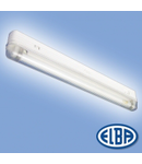 Corp de iluminat protejat la umezeala si praf, 1X18W cu priza si transformator,  APLICA BAIE AB-02,  ELBA