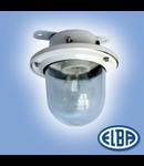 Corp de iluminat protejat la umezeala si praf, 60W cu 2 garnituri introducatoare, EI 02,   ELBA