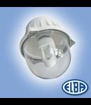 Corp de iluminat protejat la umezeala si praf, 60W cu dispersor rosu,  EI 04, ELBA