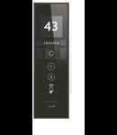 Panou exterior VIDEO pentru 2 familii, cu modul de nr./ adresa Touch Negru