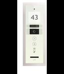 Panou exterior VIDEO pentru 2 familii, cu modul de nr./ adresa Touch Alb