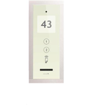 Panou exterior AUDIO pentru 2 familii, cu modul de nr./ adresa Touch Alb