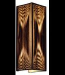 LASSON,aplica perete, WL-2, negru, 2xE27
