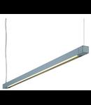 Lampa RIFFA PD 101 T5, silver grey, 1xT5 54W