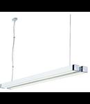 Lampa Q-LINE DOUBLE,2x35W,alb/crom