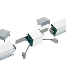 Accesoriu pentru lampa QiLINE,conector logitudinal,aluminiu