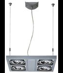 Lampa AIXLIGHT KARDAFRAME 4, QRB111,patrata