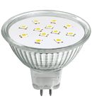 Bec cu Led-uri, ALED MR16 Glass 3W GU5.3 2700K, LUMINECO