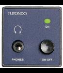 Modul incastrat pentru casti stereo, crom metal ( argintiu),  TUTONDO