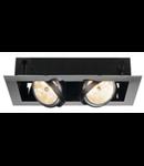 Spot AIXLIGHT FLAT II,GU10,crom/negru