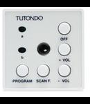 Unitate de control audio pentru 2 surse sunet stereo,  alb, TUTONDO