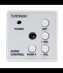 Unitate de control audio pentru o sursa de sunet stereo, crom metal ( argintiu), TUTONDO