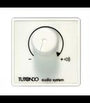 Unitate de control audio pentru 80 de vorbitori T3 Ohm, crom metal (argintiu), TUTONDO