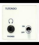 Modul pentru casti stereo, crom metal (argintiu), TUTONDO