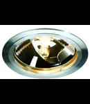 Spot SLIM QRB 111,GU10,75W,aluminiu periat