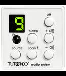 Unitate de comanda digitala cu selector de intrare, volum, On / Off, IR receptor, alba,  TUTONDO