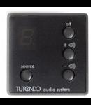 Unitatea de control audio pentru 5 surse de sunet, crom metal (argint), TUTONDO