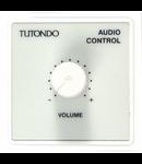 Unitate de control audio pentru 1 surse de sunet, crom metal, TUTONDO