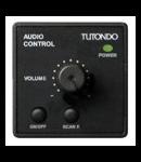 Unitate de control audio pentru 1 sursa de sunet, de control al functiei, volumului, on / off, chrom metal TUTONDO