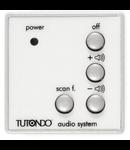 Unitate de control audio pentru 1 sursa de sunet, de control al functiei, volumului, on / off, alba,  TUTONDO
