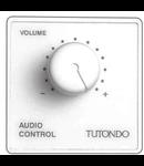 Unitate de control audio pentru 100V , 50W, metal cromat,  TUTONDO