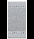 Intrerupator basculant cu buton de revenire, 10A tech, living light, BTICINO