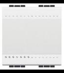 Intrerupator basculant  cap-scara, 16A living  light, 2 module, alb, BTICINO